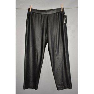 CLARA SUN WOO NEW Faux Leather Cropped Pant